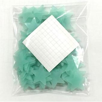 100pcs Night Light White 3d Stars Glow In The Dark -luminous Fluorescent