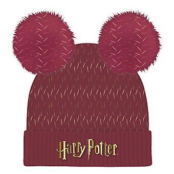 Harry Potter Logo Pom Pom Beanie Unisex Röd (LF-HPTR-038)