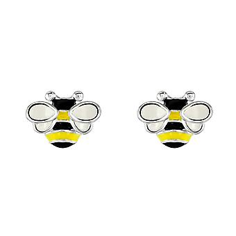 Dew Sterling Silver Dinky Bee And Combe Stud Earrings 3558ME028