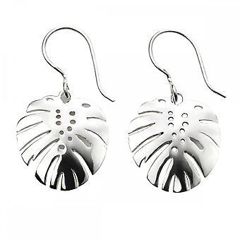 Beginnings Sterling Silver Palm Leaf Cutout Earrings E5741