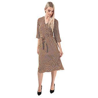 Women's Jacqueline de Yong Lion Wrap Dress in Brown