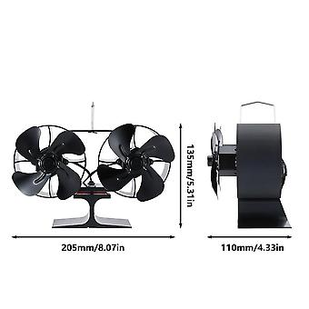 Real Hot Power Small Energy Saving Fireplace Fan Wood Burning Thermal
