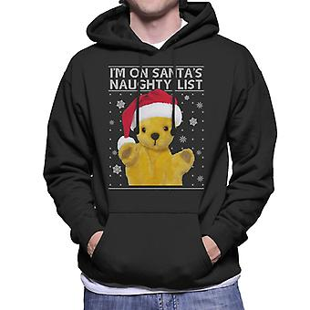 Sooty Christmas Im Op Santas Naughty List Men's Hooded Sweatshirt
