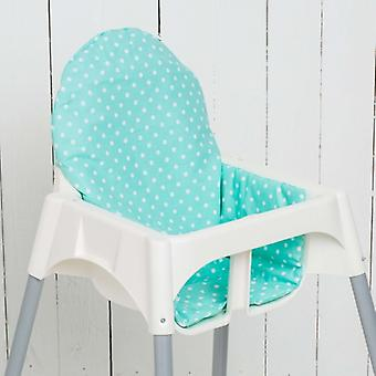 Puckdaddy Seat Cushion Yanis for IKEA High Chair Antilop Points Mint