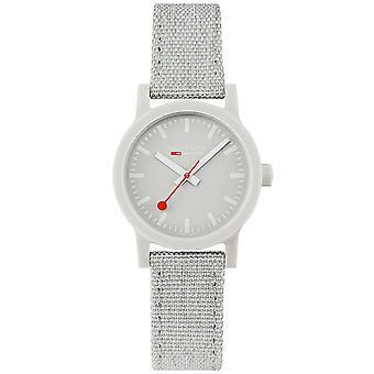 Mondaine Essence Quartz Grey Dial Textile Strap Ladies Watch MS1.32170.LK