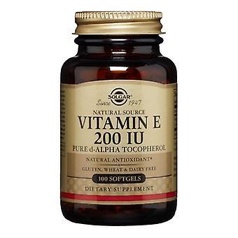 Solgar Vitamin E Alpha Softgels, 200 I.E., 100 S Gele