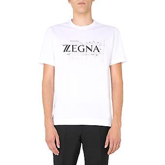 Z Zegna Vv372zz630d6d2 Men's White Cotton T-shirt