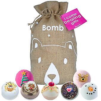 Bomb Cosmetics Hessian Sack - I Come Bearing Gifts