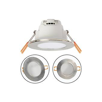 5w ronda impermeable Led Downlight Ip65 níquel