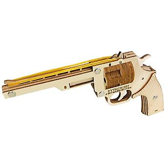 Entwickeln Kinder Intelligenz Holz 3D Puzzle 52 Stück - Revolver Gummiband Pistole