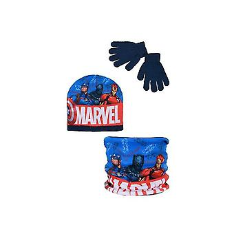 Boys TH4280 Avengers Winter Hat, Snood and Gloves Set