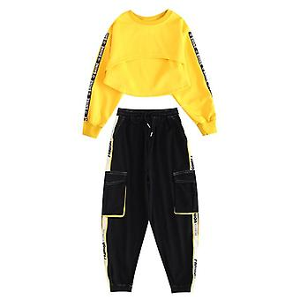 Vêtements hip-hop pour enfants, Sweat-shirt street dance/pantalon Set, Ballroom Stage