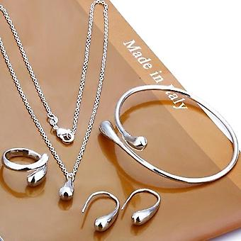 Neckalce Jewelry Set Hand Chain Bracelet Ring Hook Oval Earings