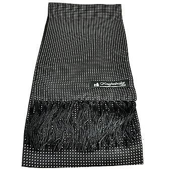 Krawatten Planet Knightsbridge schwarz & weiß Polka Dot Männer's Aviator Seide Schal