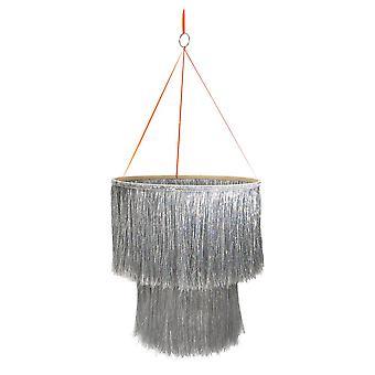 Meri Meri Silver Tinsel Chandelier - Home Decoration
