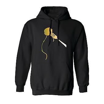 Gabel Spaghetti Frikadelle Graphic Männer Hoodie