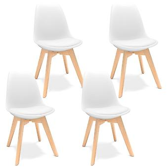 Scandinavian Design Dining Chair, Coffee Chairs With Solid Wood Chairs