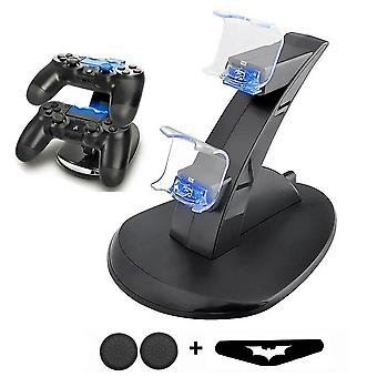 Ps4 Game Controller Charger - Dual Port LED indikátor nabíjacej stanice Dock