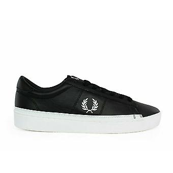 Fred Perry Spencer Leather Men's Trainer Shoes B7110-102 Black