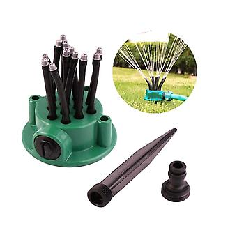 360 Degree Automatic Garden Sprinkler Plastic Multi Head Garden Sprinkler Noodle Sprinkler Head Spray Gardening Tool