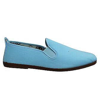 Estilo hilo dental Arnedo Unisex Espadrille Slip En Plimsolls Zapatos 55 Baby Blue