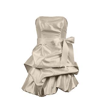 Kovové taftové šaty bez ramínek