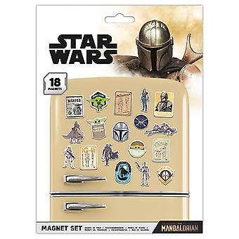 Star Wars: The Mandalorian Fridge Magnet Set (Pack of 18)