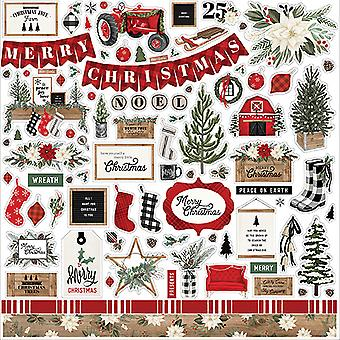 Carta Bella Farmhouse Christmas Element Sticker
