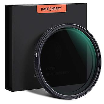 K&f concept 52mm variable nd filter adjustable fader neutral density nd2 - nd32 filter, no spot x bl