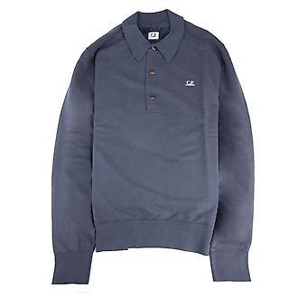 CP Företag Cp Företag Fleece Långärmad Polo Blå