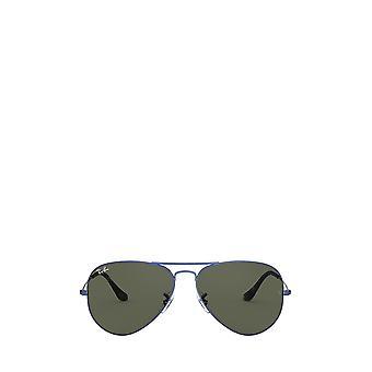 راي بان RB3025 الرمال شفافة النظارات الشمسية الزرقاء للجنسين