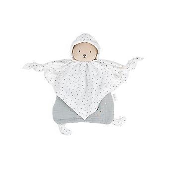 Kaloo organic cotton doudou bear grey