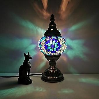 Turkish Mosaic Table Lamp Vintage Art Deco Handcrafted Romantic Bed Light