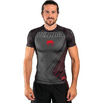Venum Contender 5.0 Short Sleeve Rash Guard  Black/Red