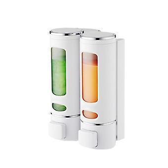 Liquid Single & Double Soap Dispenser, Wall Kitchen, Bathroom Bottle, Plastic
