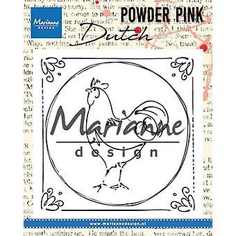 Marianne Design Clear Stamp P. Pink - Kogut holenderski Pp2805 82x82 mm