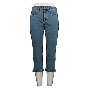 NYDJ Women's Petite Jeans Skinny Crop with Side Slits -Delray Blue A377691