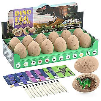 Динозавр игрушки, динозавр яйцо Dig Kit Подарки детей, в комплекте с 12 динозавров яйца, археология Наука Подарок
