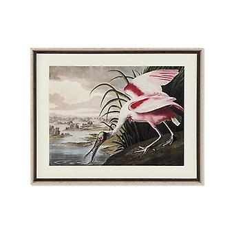 Painting Dekodonia Bird Pond Oriental Framed (88 x 3 x 70 cm)