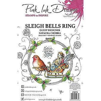 Pink Ink Designs Sleigh Bells Ring A5 Clear Stamp Set