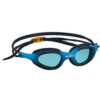 BECO Biarritz Junior Swimming Goggle - Blue Lenses - Navy/Blue