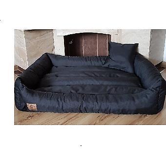 XXL Dog pat din piele artificială neagră - câine pernă câine canapea cat pat câine coș - impermeabil