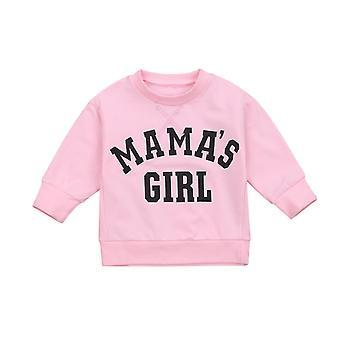 Fall Autumn 6m-4y Kids Toddler Baby/girl Print Sleeve Sweatshirt