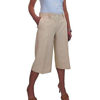 Women's Smart Wide Leg Culottes Shorts 3/4 Length Trousers 8-22
