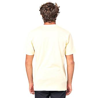 Rip Curl Hombres's Camiseta ~ Icono Usado amarillo