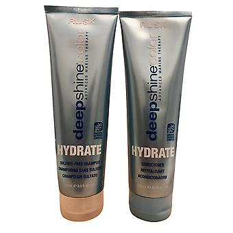 Rusk Deepshine Color Hydrate Shampoo & Conditioner Set 8.5 OZ Each