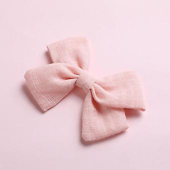 Baby Spring Cotton  Hair Bows Hairpin Princess Barrette Lovely Hair Clips