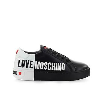 Love Moschino Black White Logo Sneaker