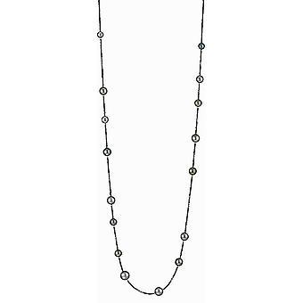 Adriana Bead Necklace Tahiti multi 8-12 mm brown spinel silver 100 cm I39-B