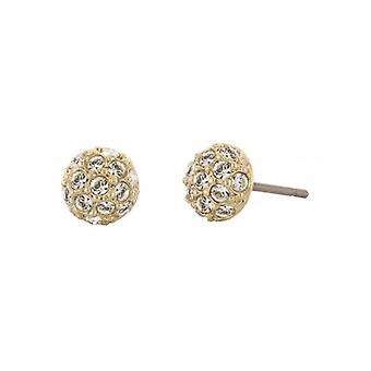 Traveller Pierced Earring - 22ct Gold Plated - Swarovski Crystals - 156141 - 429